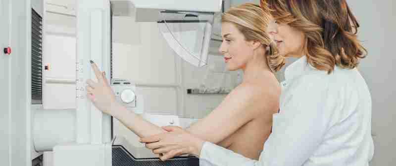 Mamografía y prótesis de mama