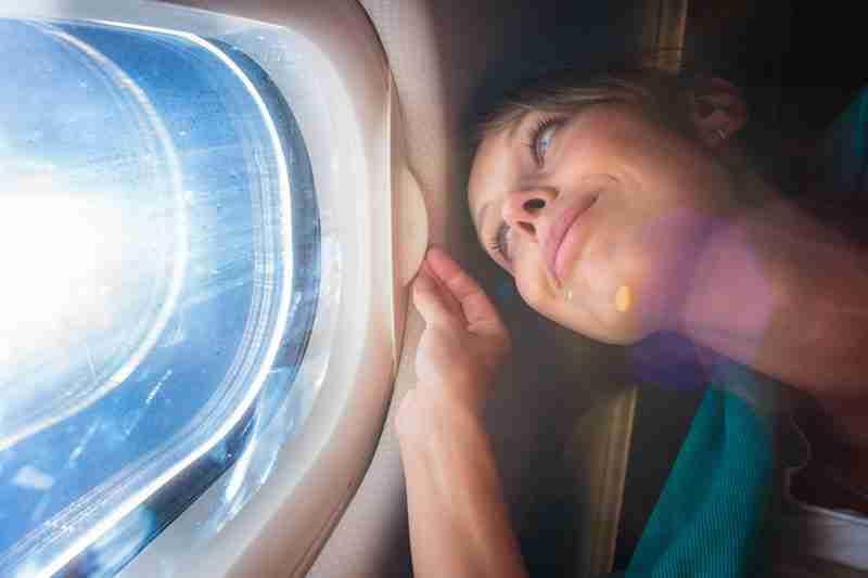 Rotura implante mama en avión